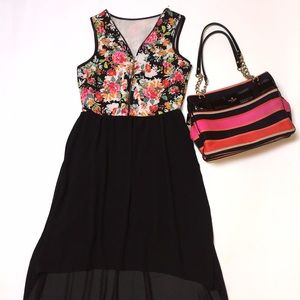 Gorgeous sleeveless, floral top spring dress